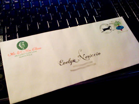 image regarding Printable Santa Envelopes named Free of charge Printable Santa Letter Envelope - A Geek Inside Gles