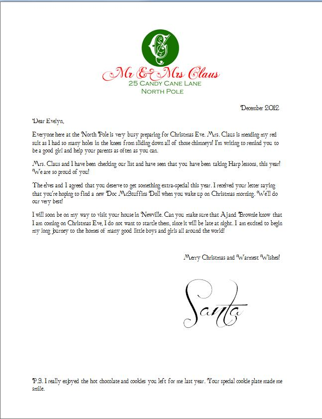 Free Printable Santa Letter & Envelope - A Geek In Glasses