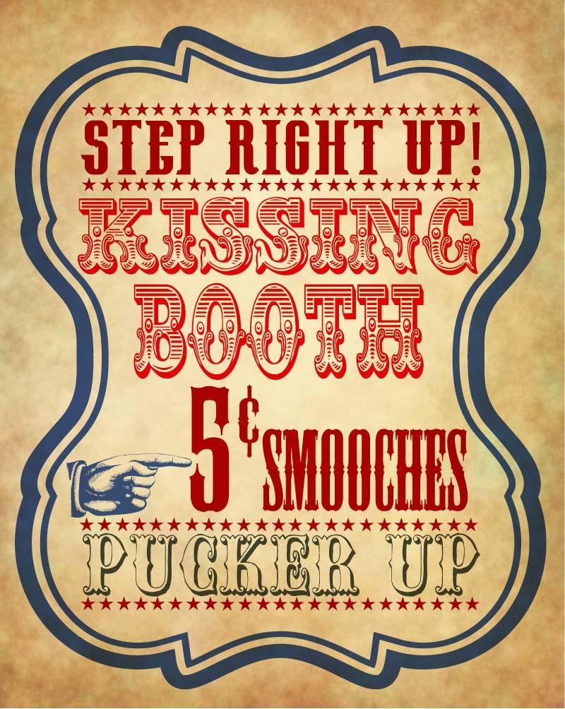 Free vintage kissing booth printable a geek in glasses kissingbooth maxwellsz